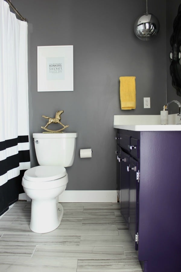 homage-rainontinroof-gray-purple-black-white-bathroom-makeover