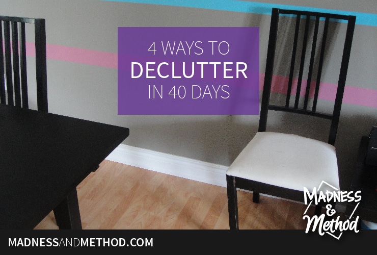 "What are you ""giving up"" for Lent this year? Why not take a hard look at all your possessions and give up consumerism for a while. Today I'm sharing ideas on how to declutter your homes, so you can declutter your lives – why not be a minimalist for a month!?"