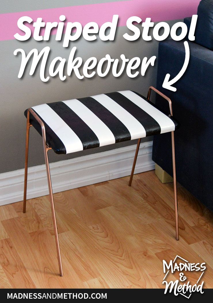 striped-stool-makeover-pinterest