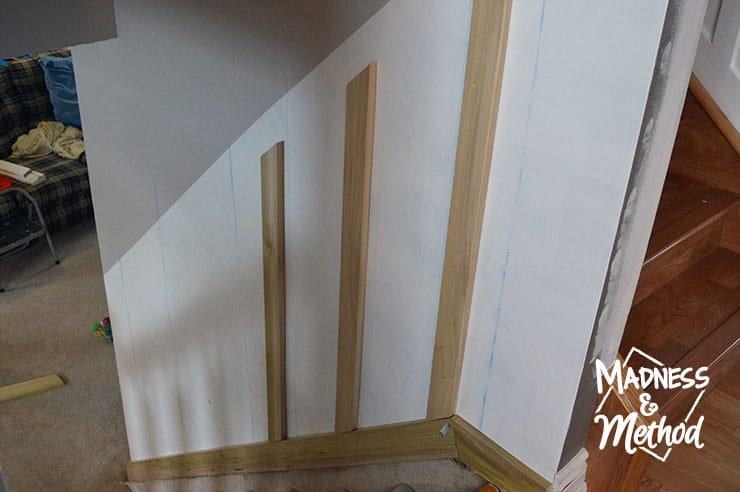 This DIY board and batten staircase didn't take long to complete, but it completely transformed the space. It's a great project that will give a big impact!