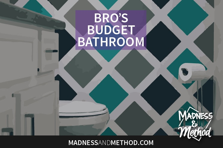 Today I'm sharing my bro's budget bathroom reveal! We tried to keep as many elements in the room as possible and updated almost everything with paint.