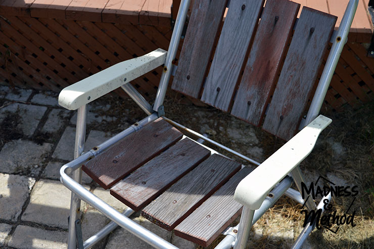Antique patio furniture rocking chair - Antique Patio Furniture Makeover Madness & Method