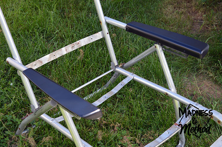 Spray painted patio furniture plastic arms