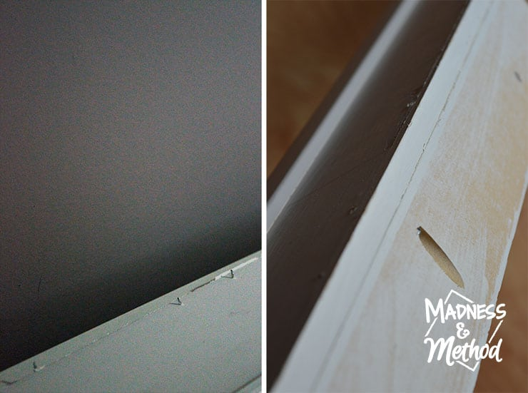 Stronger photo ledge construction with pocket holes instead of nails