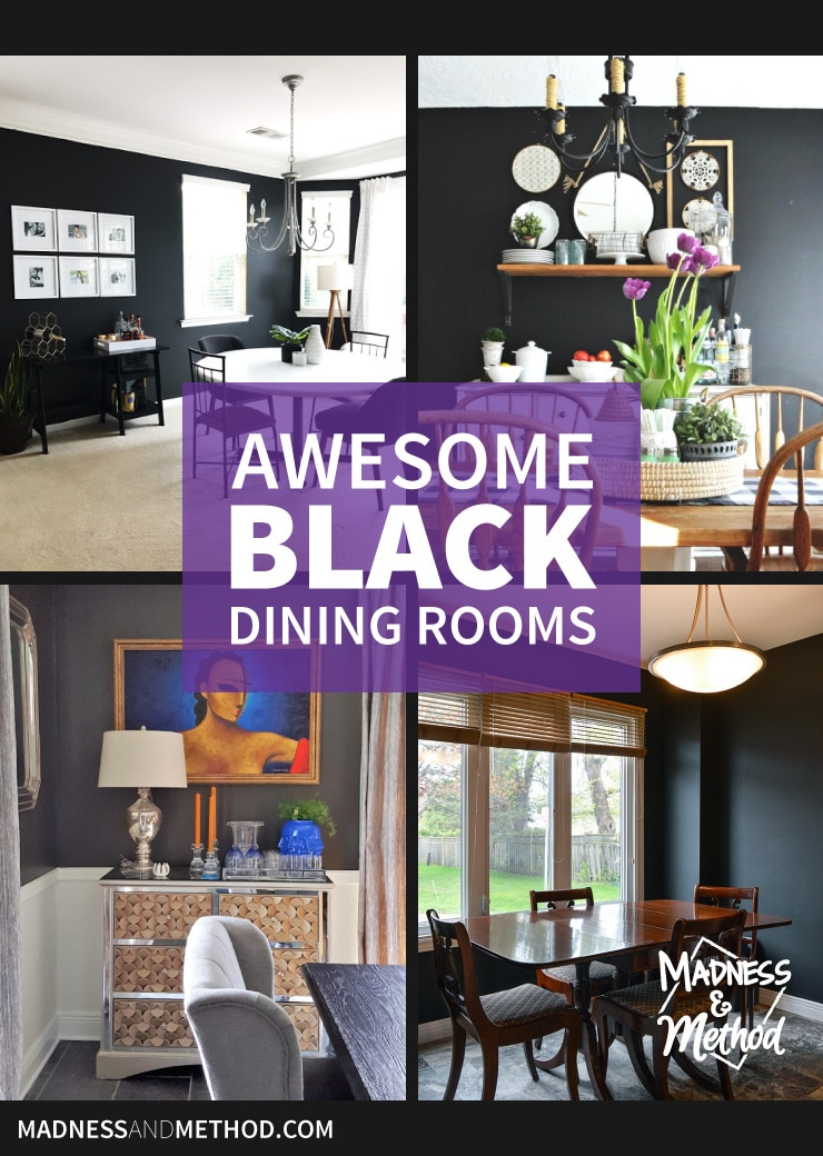 awesome black dining rooms collage graphic