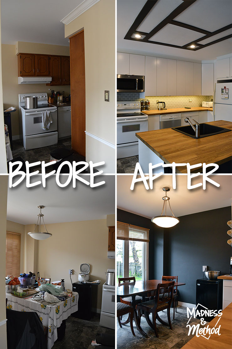 budget kitchen before and after pictures