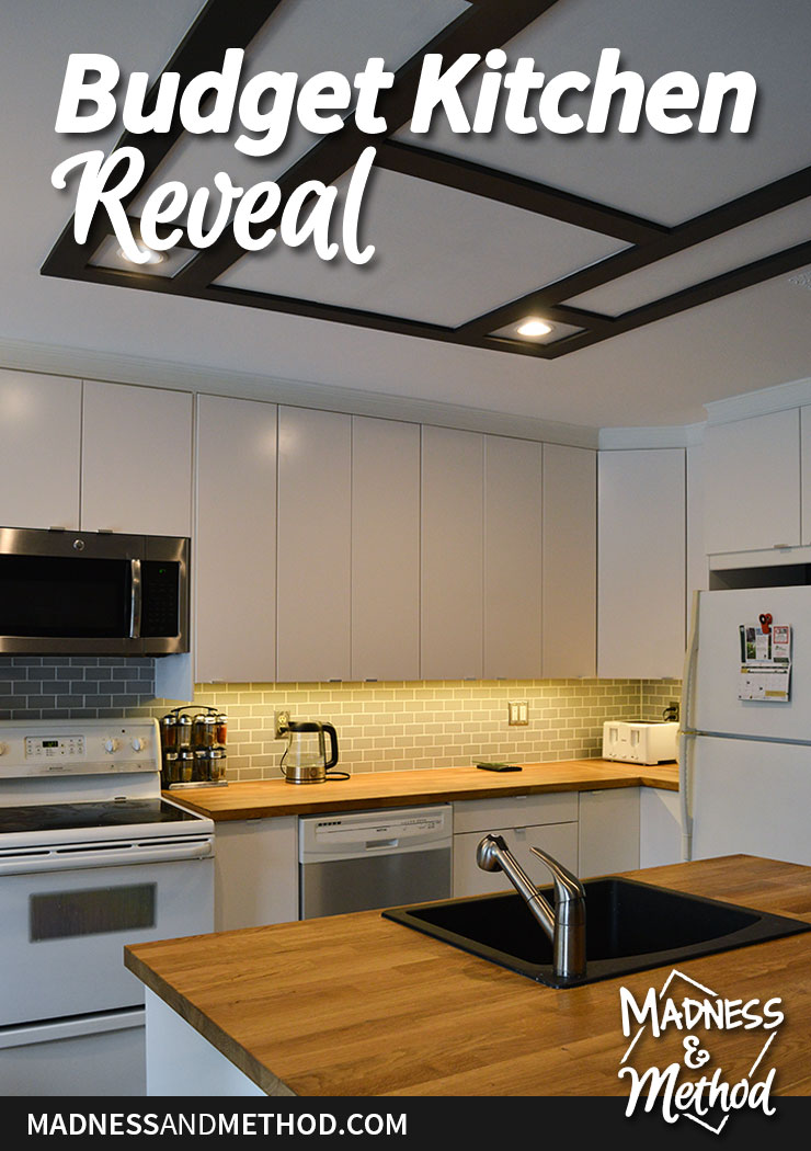 bro's budget kitchen reveal graphic