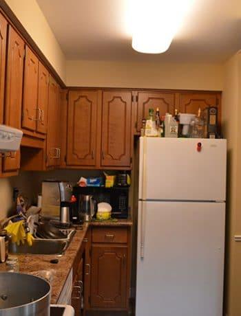 8x11 closed, cramped l-shaped kitchen