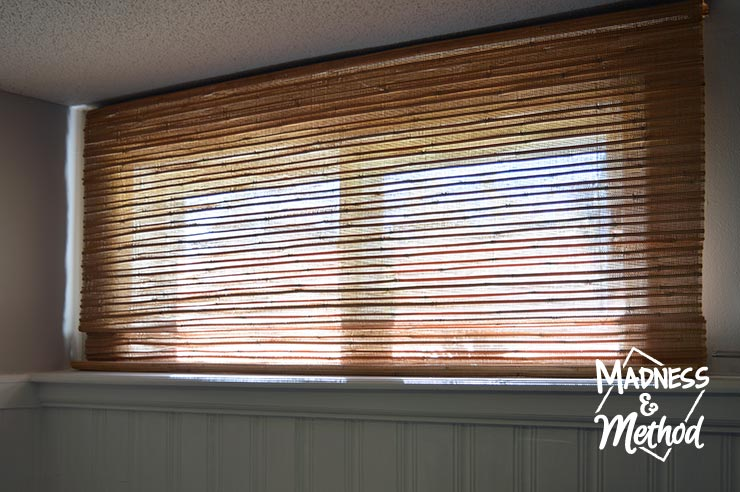 basement bamboo blinds on short window