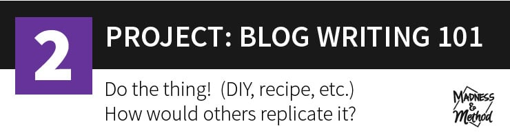 blog writing 101 project