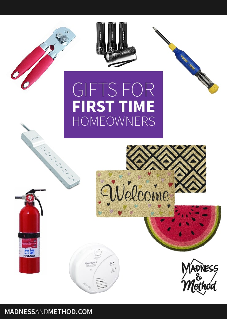gifts for first time homeowners graphic