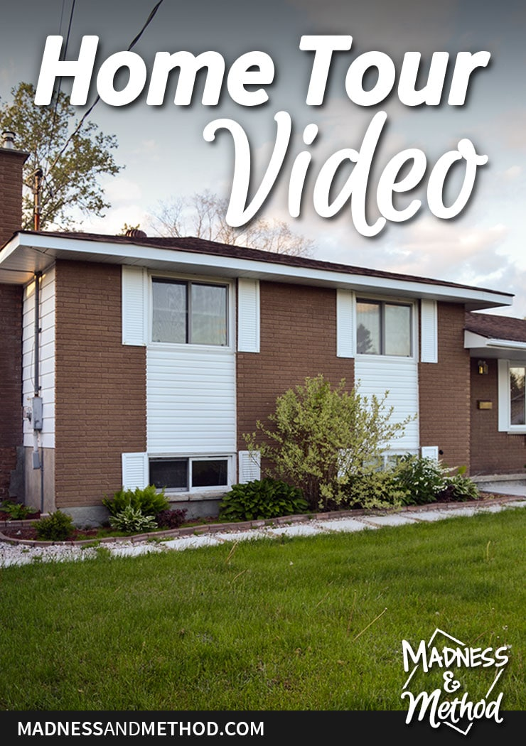 fall home tour video pinterest graphic