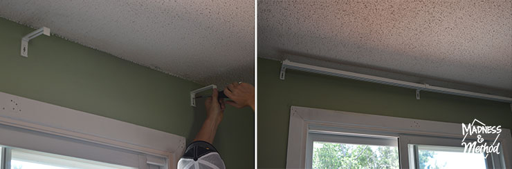 installing track for panel curtains from ikea