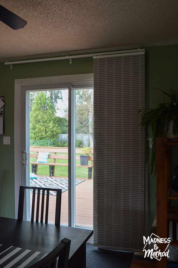 open panel curtains