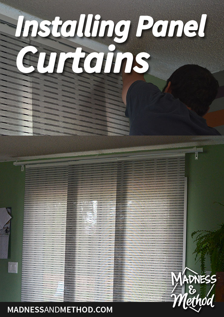 installing panel curtains graphic