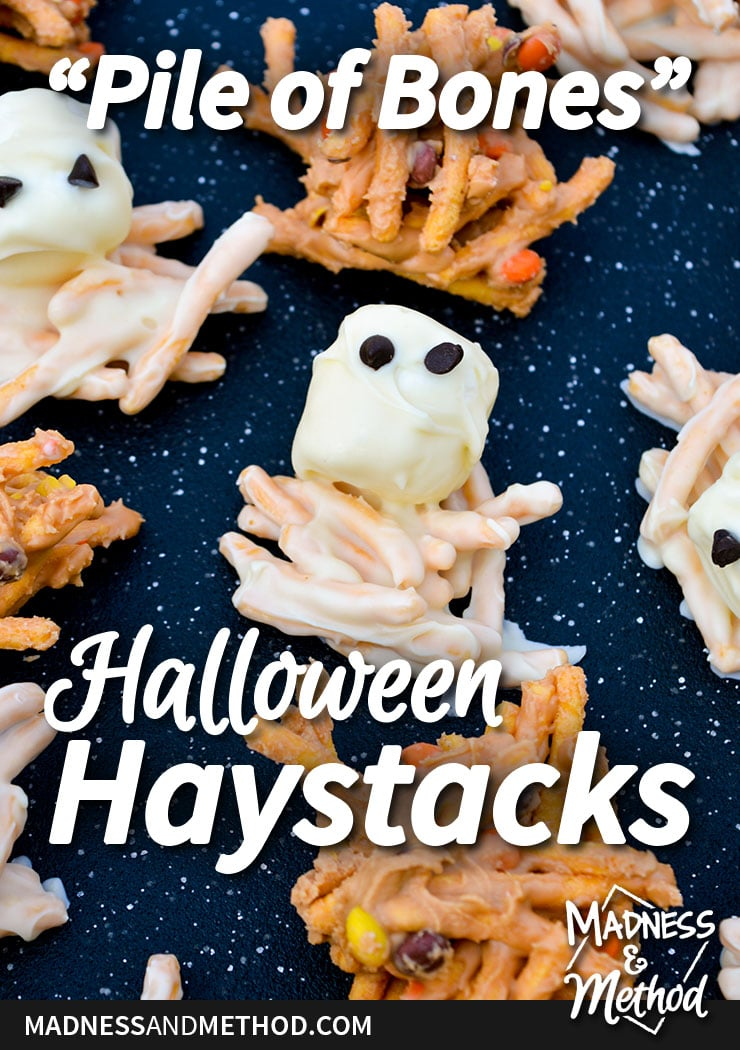 pile of bones halloween haystacks graphic