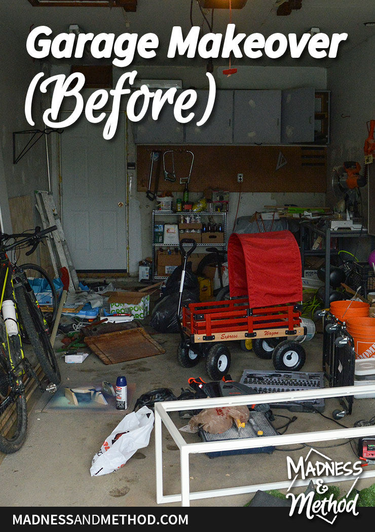 pictures before our garage makeover