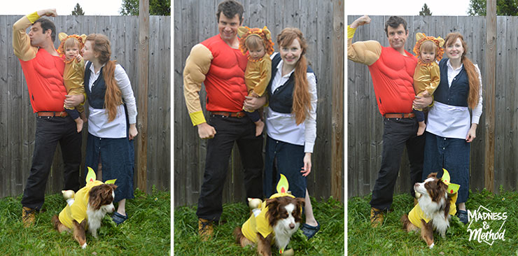 family beauty and the beast halloween costumes
