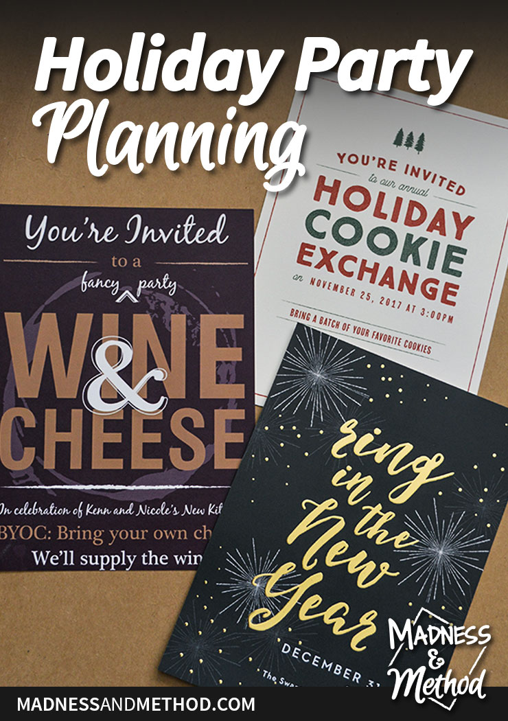 holiday party planning invitation options