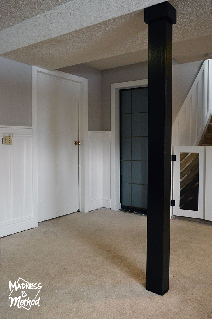 doors in basement family room