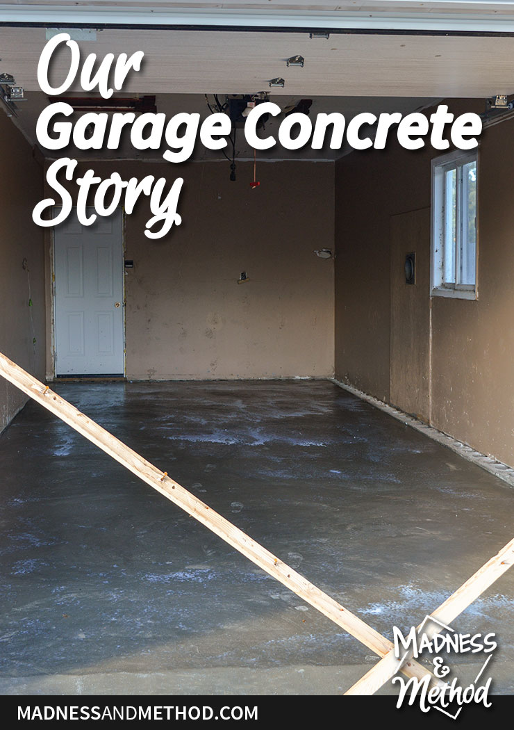 our garage concrete story graphic