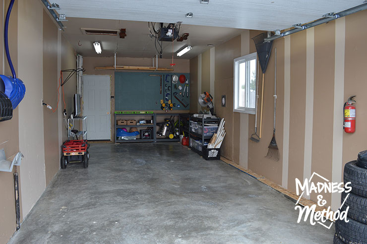 garage makeover reveal full view