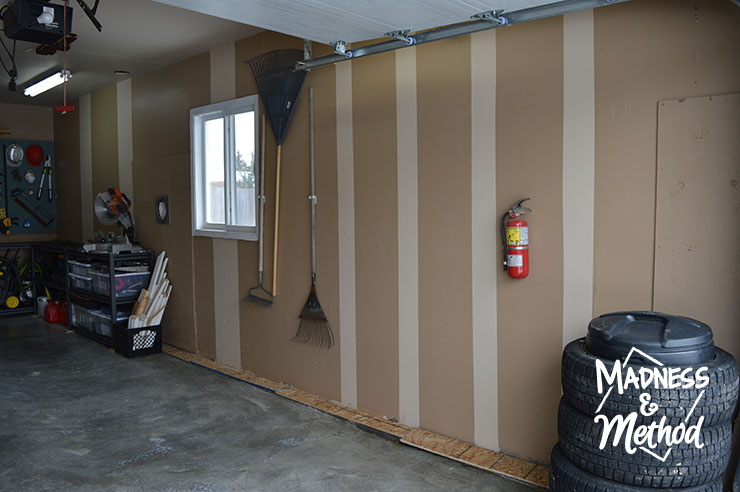 garage makeover size wall