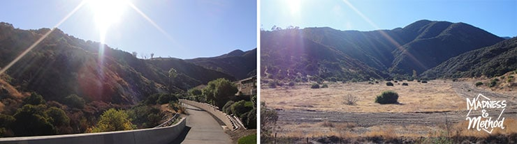 Hiking in corona california