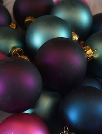 jewel-toned christmas tree ornaments