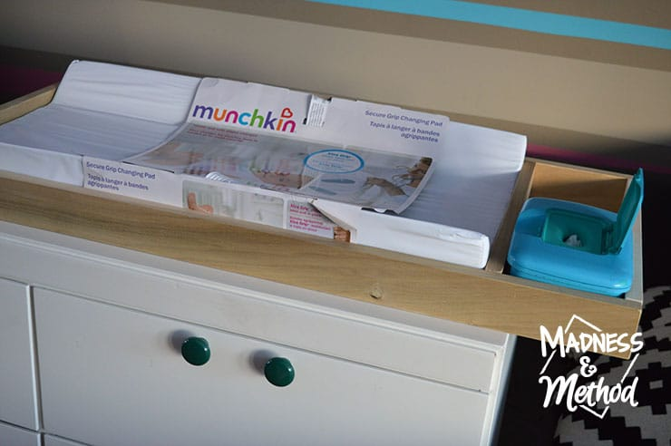 Diy Baby Change Table Top With Wipe Compartment