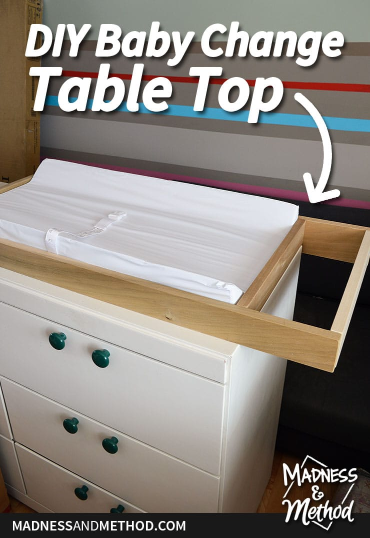 diy baby change table top graphic