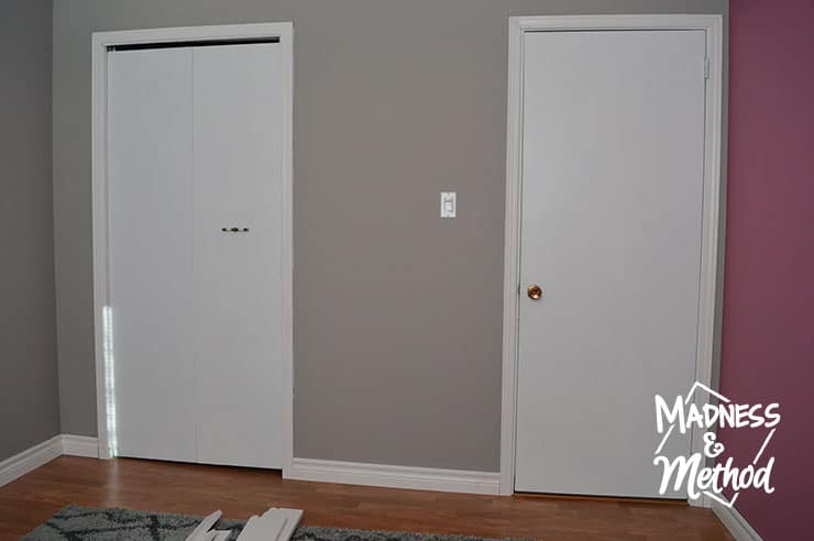 flat doors in bedroom