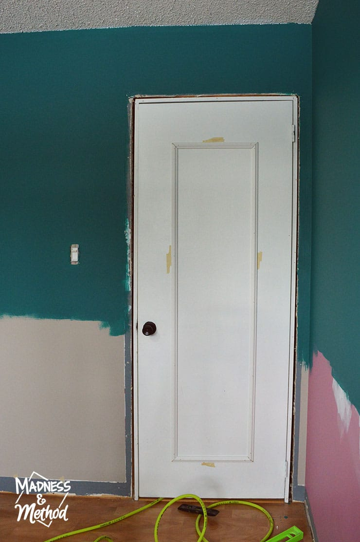 upgraded panelling on flat door