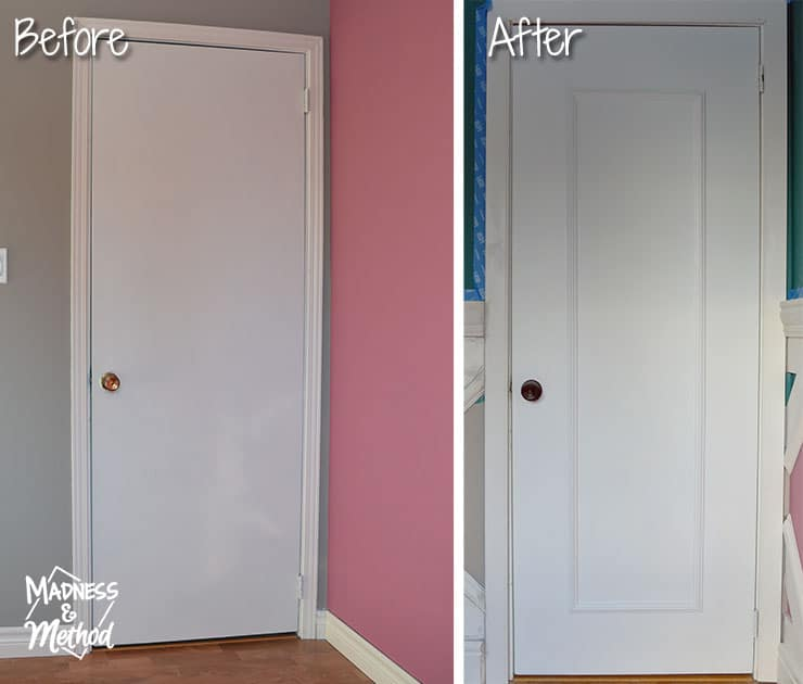 before and after upgraging flat door