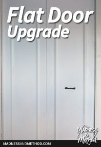 flat bifold closet door upgrade