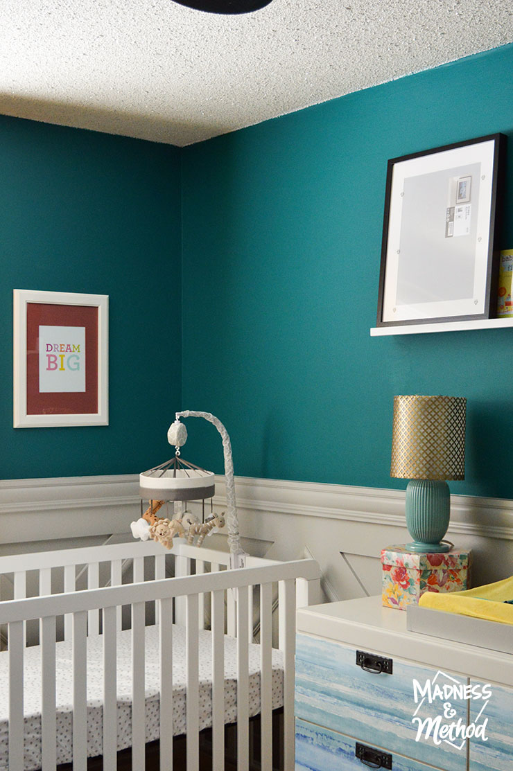 crib area in nursery
