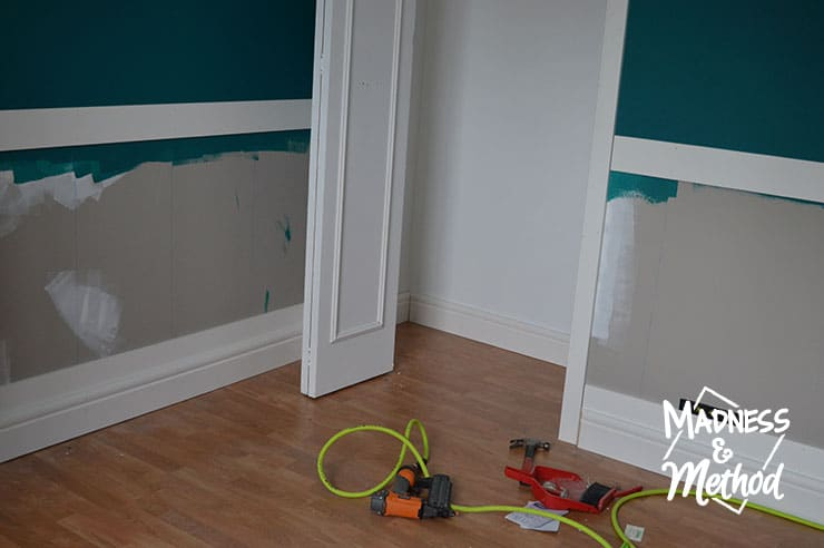 adding baseboards to closet