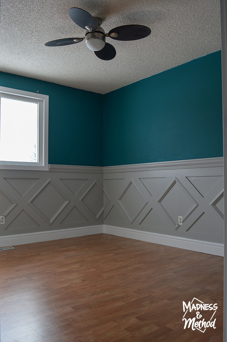 diamond wainscoting in nursery
