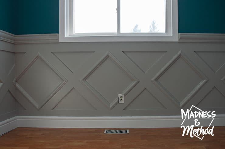 wainscoting around a window