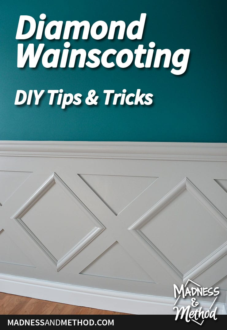 diamond wainscoting wall treatment diy graphic