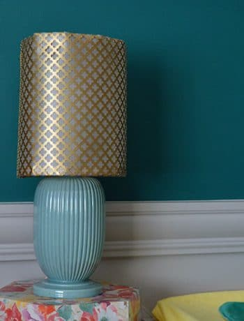 brass metal lampshade diy