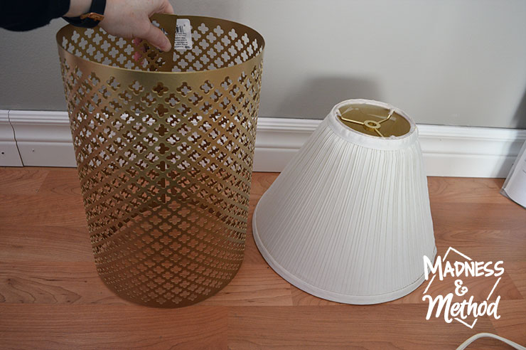 deciding to make a metal lampshade