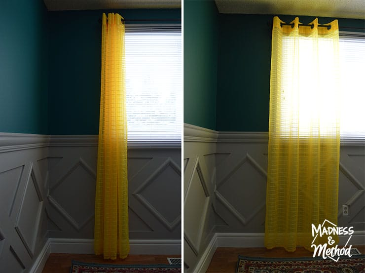 installing the right height curtains
