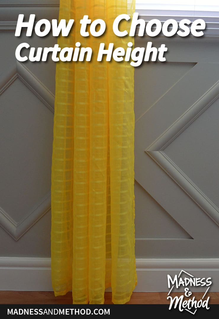 choosing the right height curtains graphic
