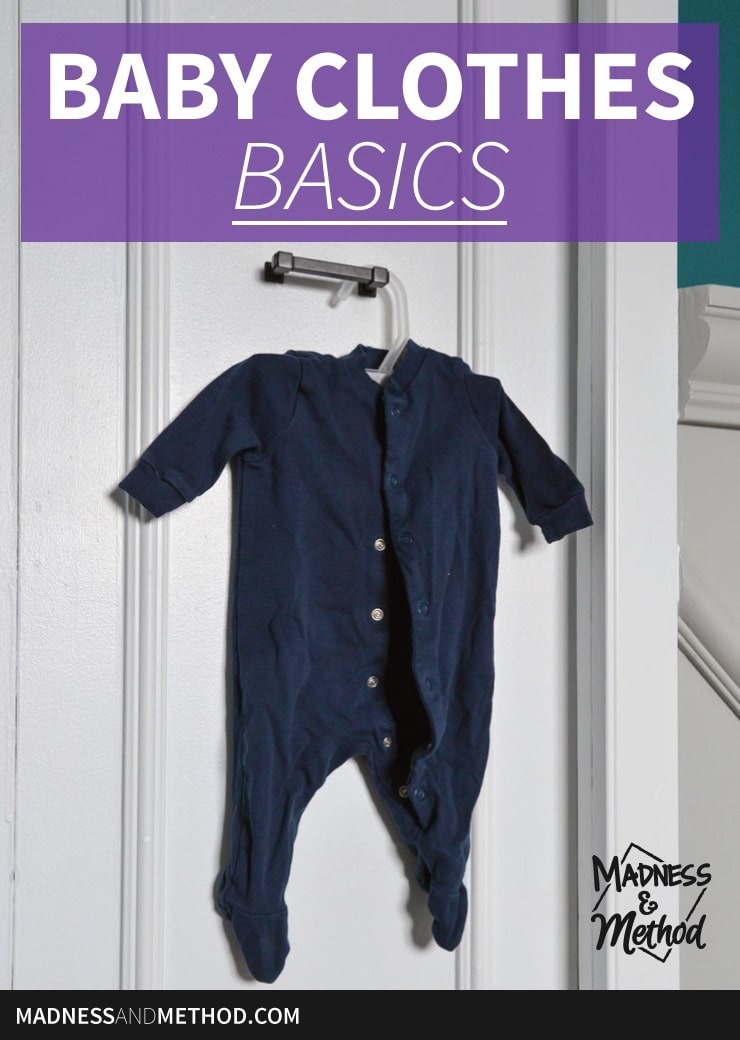 baby clothes basics graphic