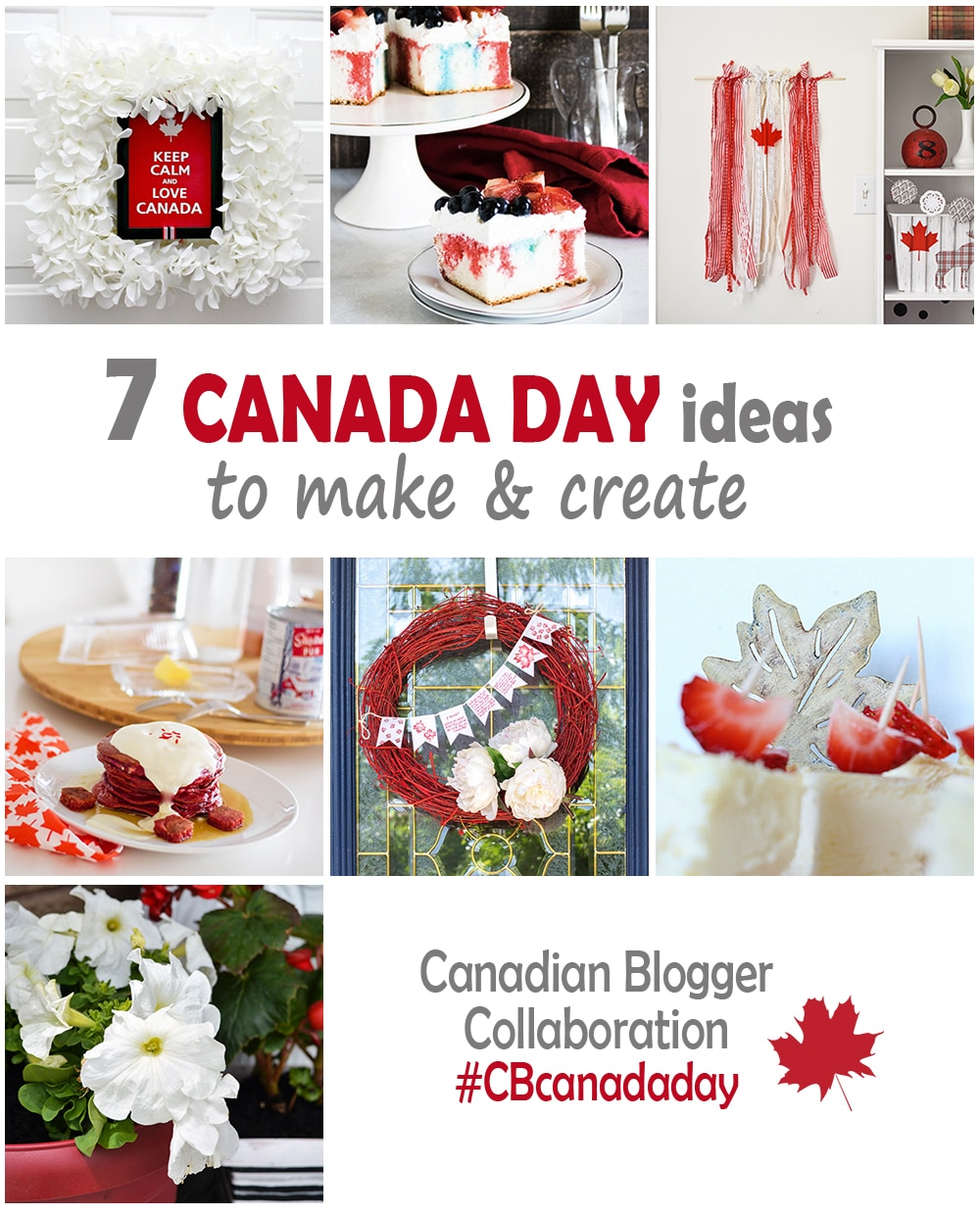 7 Canada Day projects collage
