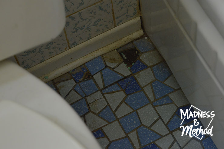 missing tiles in bathroom floors