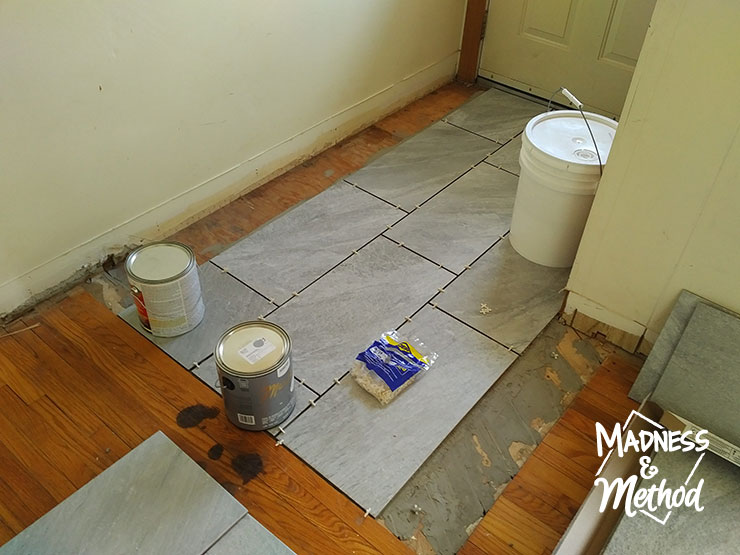 tiling the entryway