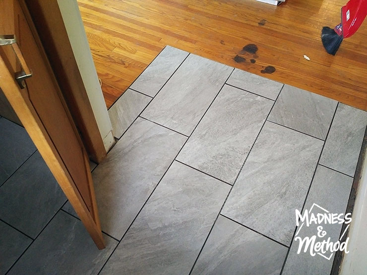 Tiling the Entryway | Madness & Method