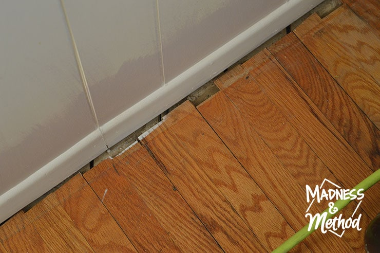gaps along hardwood floors and walls